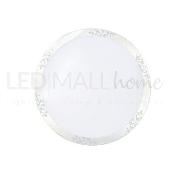 Lampada Plafoniera Led Circolare per interni 22W Luce Naturale soffitto o parete diametro 470mm casa ufficio condominio scale