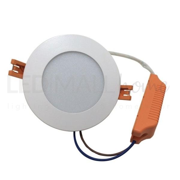 PANNELLO FARETTO LED INCASSO TONDO CON DRIVER E ALETTE 10W  LUCE CALDA DIAM. 118 mm 5W 10W 20W 30W