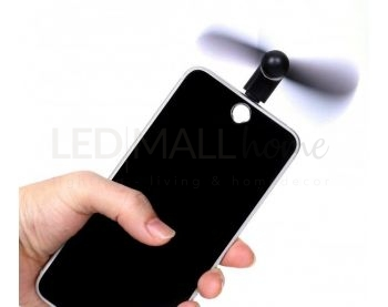 MINI VENTILATORE PORTATILE PER IPHONE NERO