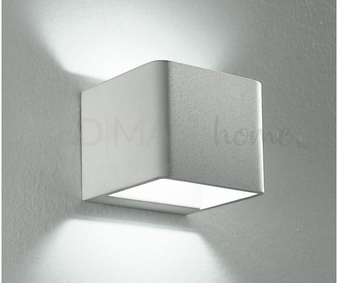 Applique cubo con luce led 6 watt 3500 kelvin