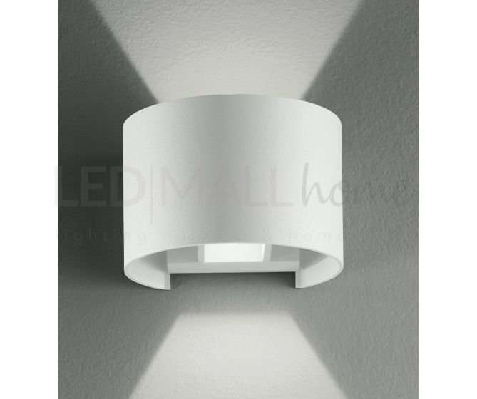 Applique bianco tondo led 6 watt 3000 kelvin