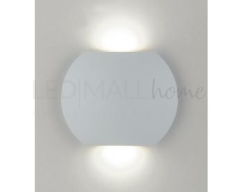Applique bianco moderno con luce led 6 watt 3000 kelvin