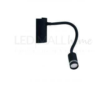 APPLIQUE LED KEPLER NERO 3W 100LM 3000K 6X9X32CM