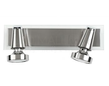 GESPOT-MIAMI 02 - Applique a due luci dalla linea originale cromata 42 watt 2800 kelvin GU10
