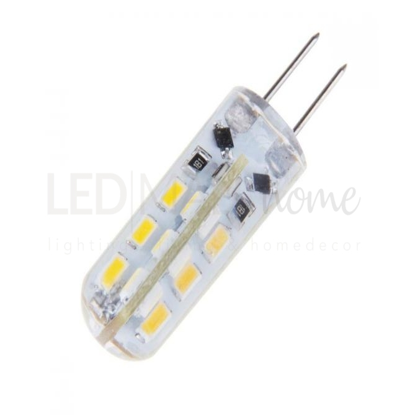 Lampada led G4 1.5W 3000k bianco caldo AC/DC 12 volt spillo pisellino uguale alogena 20w