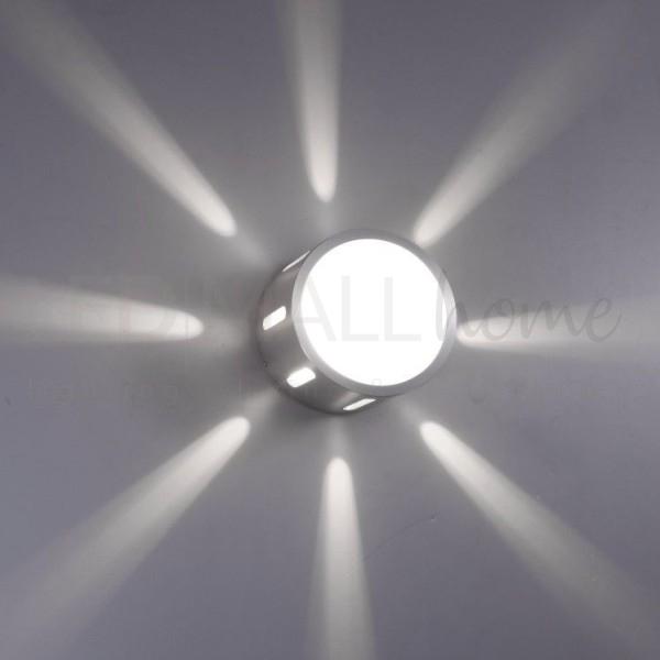 Applique per interni da parete 240V in alluminio puro + vetro temperato IP20 attacco G9