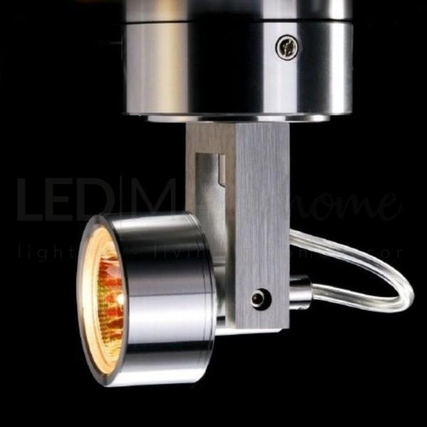Applique  per interni da parete in alluminio puro IP20 attacco MR16/GU5.3 12V
