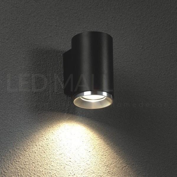 Applique con fascio di luce singolo per interni da parete 240V in alluminio ,nero IP20 attacco GU10