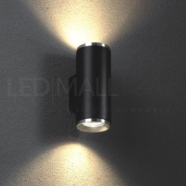 Applique per interni doppio fascio di luce-240V-alluminio, nero sabbiato, IP20 ? attacco GU10