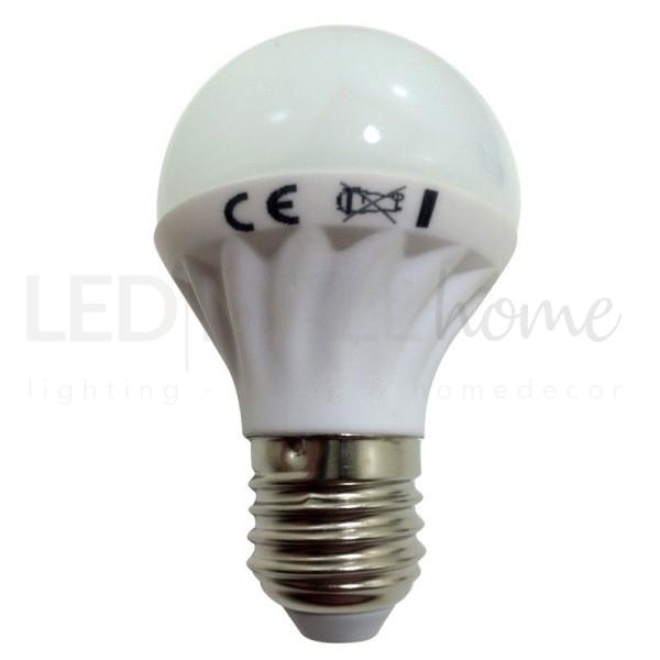 LAMPADINA LED 4.5W E27 3000°K 380LM BIANCO CALDO CON CORPO IN CERAMICA