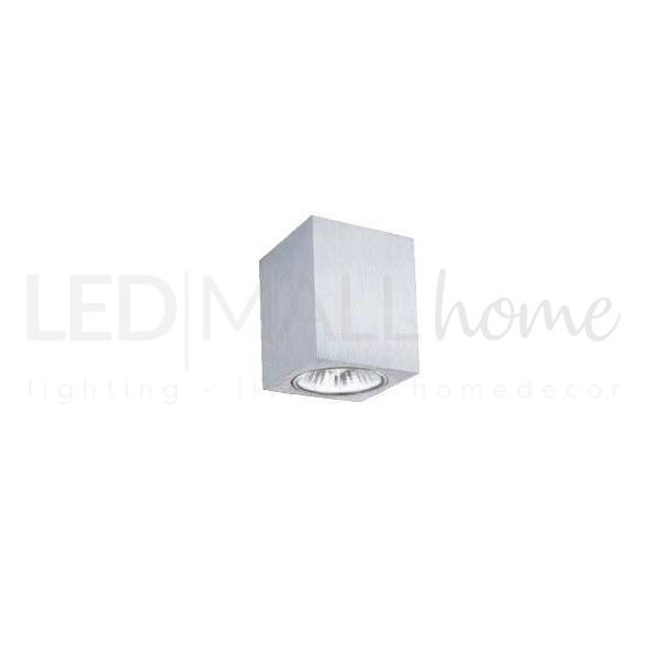 Portafaretto gu10 nichel satinato Applique silver per interni da parete 240V in alluminio puro-IP20 attacco GU10