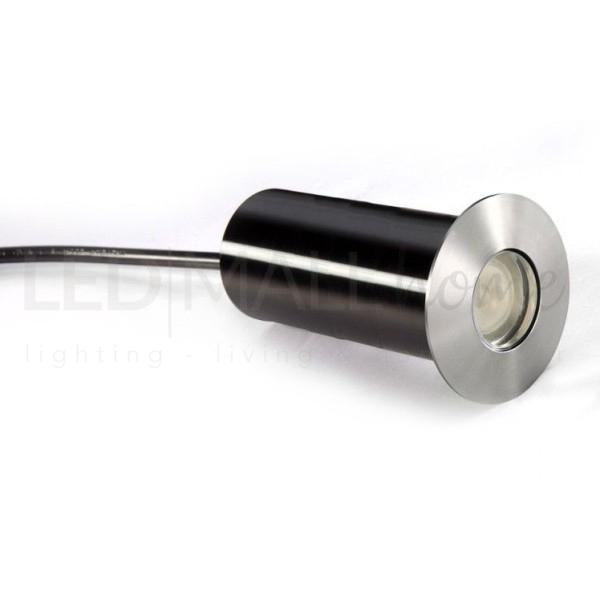 Faretto LED calpestabile segnapasso  3w da incasso in ACCIAIO IP67 3000K luce calda PER GIARDINI VIALETTI VILLE NEGOZI