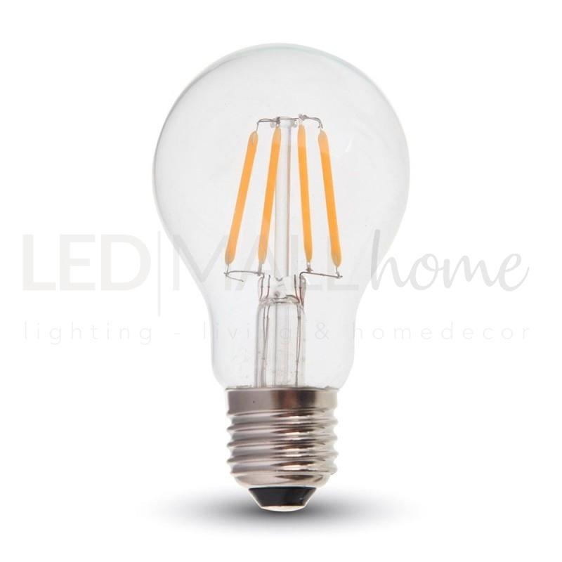 Lampada bulbo goccia led filamento a60 4w attacco e27 for Lampade a led e 27