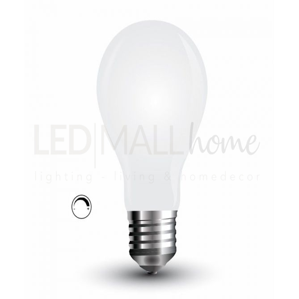 Lampada a Filamento Vetro Bianco A60 4W E27 2700K