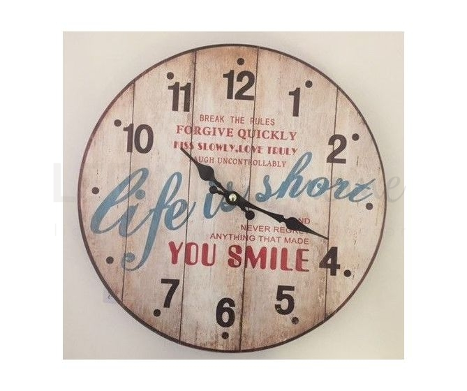 "Orologio Vintage ""life is short you smile"""