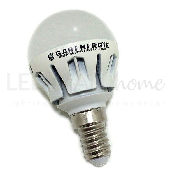 Lampada sfera pallina mini globo G45 bulbo 6W E14 luce calda 3000°k 500 Lumen