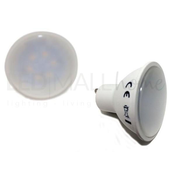 Lampada Faretto Spotlight  LED 5W GU10 Bianco Caldo 220v PAR16  Dicroica Spot Spotlight  lampadina