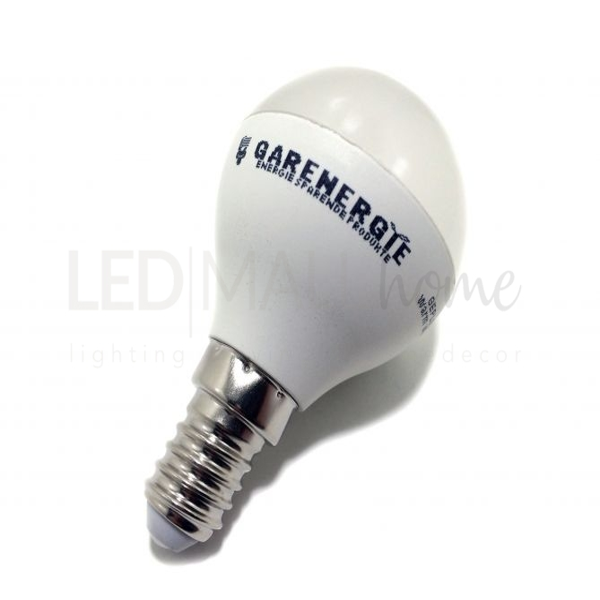 Lampadina led pallina mini globo G45 5w E14 4000°K bianco naturale 400lm