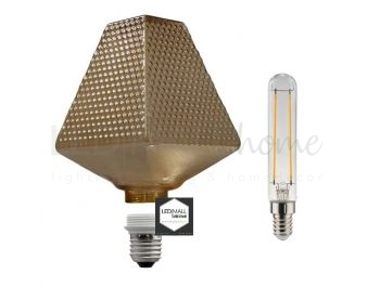 Lampadina Decorativa Componibile LED G160 con vetro fumé 5W E27 Dimmerabile 2700K