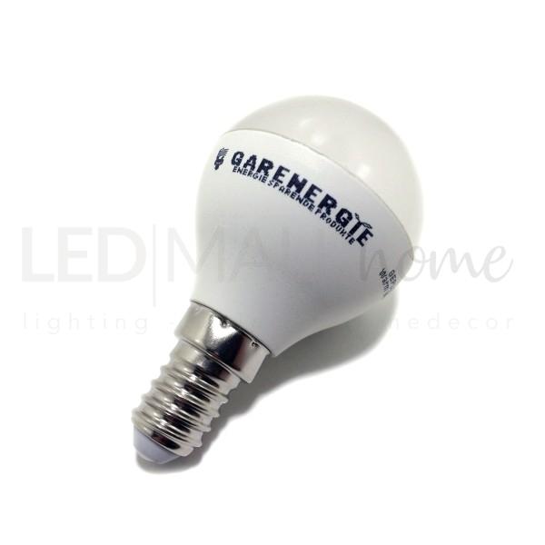 Lampada sfera pallina mini globo G45 bulbo 5W E14 luce fredda 6000°k 400 Lumen