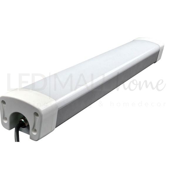 LAMPADA PLAFONIERA LED 50W IP65 LUCE  FREDDA USO ESTERNO ED INTERNO SOSTITUISCE VECCHIE 2X58W FLUORESCENTI NEON