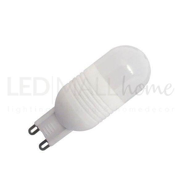 Lampada led G9 3w 6000k bianco FREDDO per lampade, lampadari, applique, in sostituzione delle 40w alogene