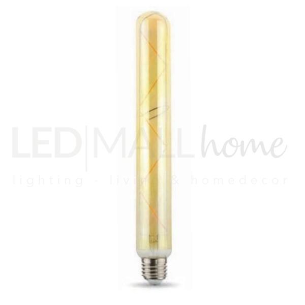 Lampadina Tubo LED E27 Filamento Lungo T38 5.5W 2000K 470lm Ambrata T300