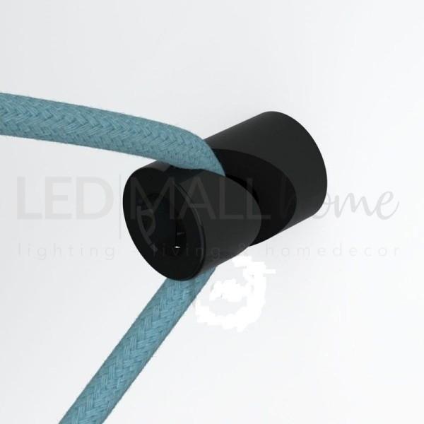 """Decentratore, gancio a """"V"""" a soffitto o parete bianco universale per cavo elettrico tessile"""