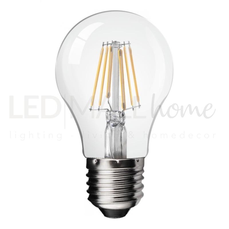 Lampadina led a filamento attacco e27 8 watt di potenza for Lampadine led watt