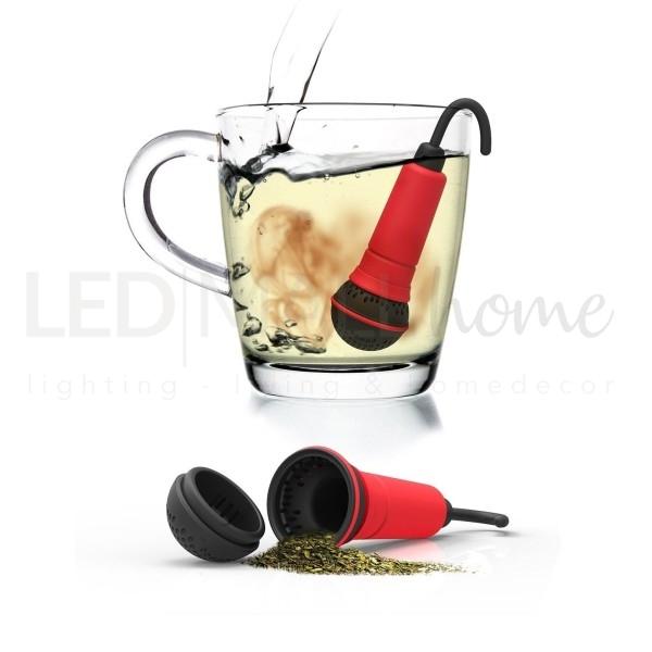 SPO-TEA-FY INFUSORE PER TE' a forma di microfono rosso