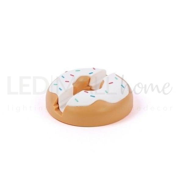 SUPPORTO PER IPAD a forma di ciambella donut bianco