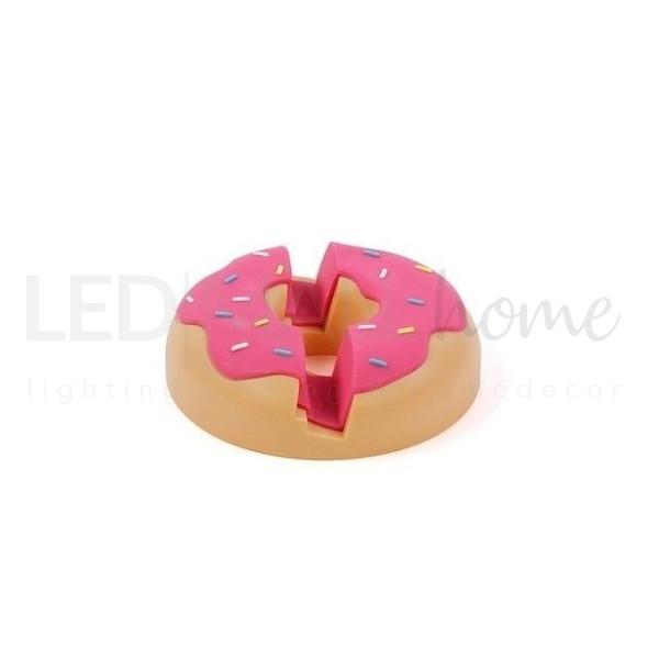 SUPPORTO PER IPAD a forma di ciambella donut rosa