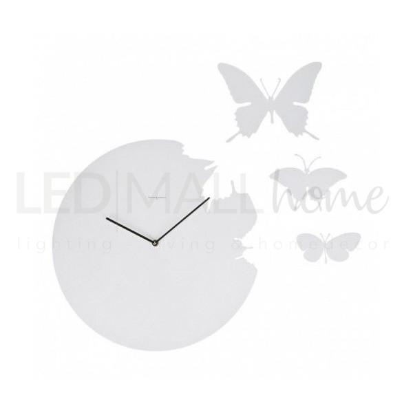 Orologio con Farfalle grigio Tortora