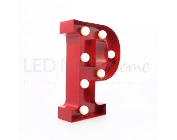 LETTERA LUMINOSA A-Z LED CIRCUS LETTER-P ROSSA