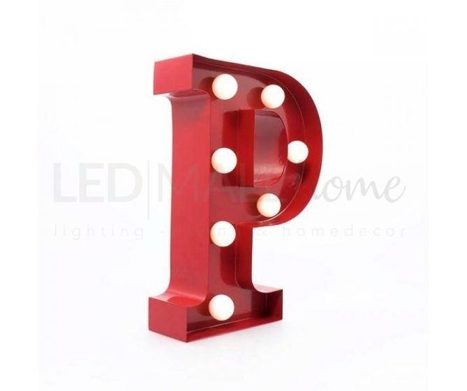 LETTERA LUMINOSA A-Z LED CIRCUS LETTER-P