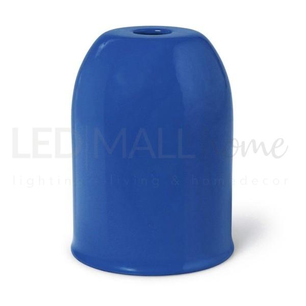 Portalampada E27 in metallo Blu