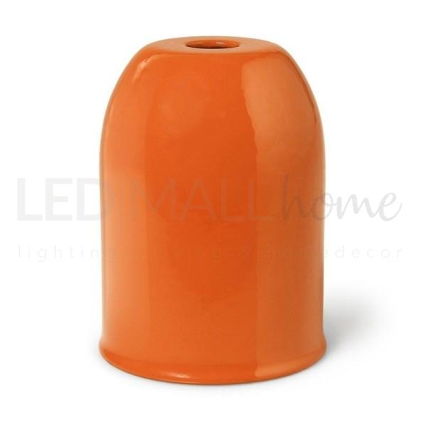 Portalampada E27 in metallo Arancione