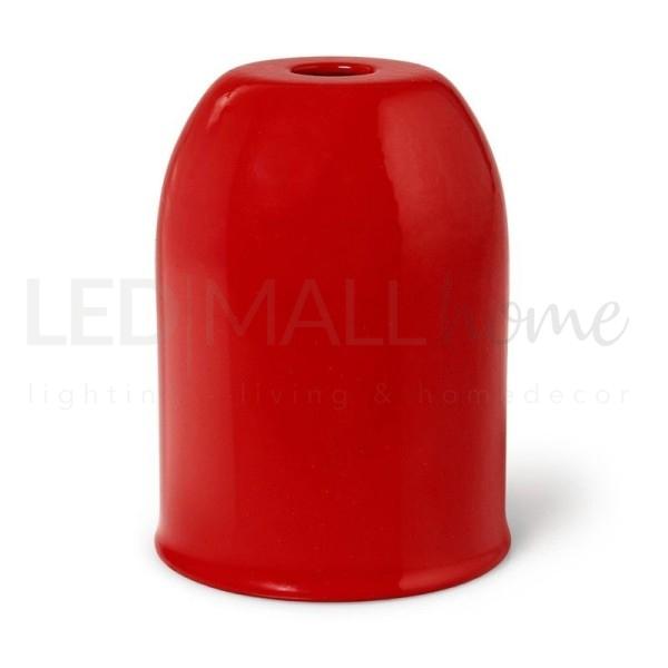 Portalampada E27 in metallo Rosso