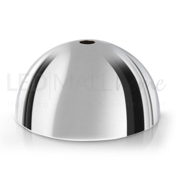 Rosone da lampadario in metallo-Cromato