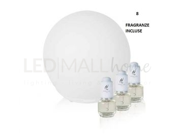 DIFFUSOREDI PROFUMO LED SFERA ULTRASUONI + 8 FRAGRANZE MISTE ASSORTITE