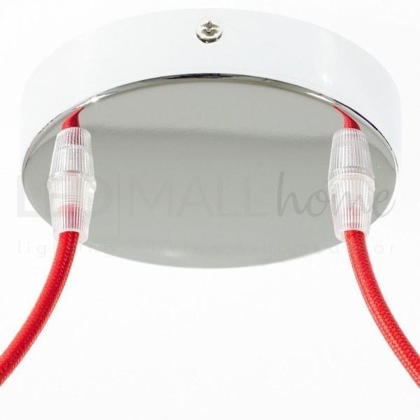 Rosone da lampadario cilindro 2 FORI-Cromo