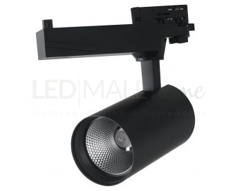 FARO BINARIO LED EAGLE NERO 40W 4000LM 4000K 22,5X17,7X9,8CM