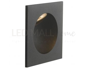 INCASSO LED ONYX NERO 2W 144LM 4000K IP54 9X9X4CM