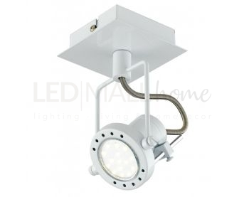 SPOT LED TECHNO ORIENTABILE BIANCO 1XGU10 5W 400LM 4000K 12X16CM