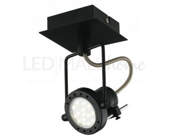 SPOT LED TECHNO ORIENTABILE NERO 1XGU10 5W 400LM 4000K 12X16CM