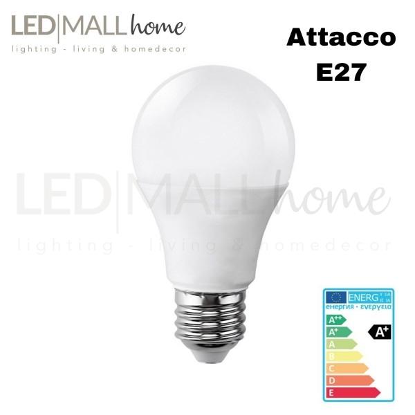 Lampada bulbo goccia led A60 11W attacco E27 bianco caldo 3000°k 900 lumen