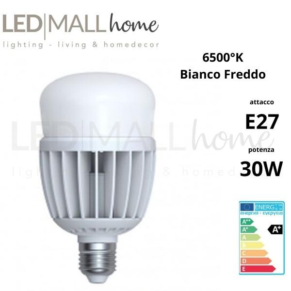 Lampada Bulbo Goccia Led A80 30W E27 luce Fredda alogeno ioduri metallici SAP per illuminazione industriale domestica pubblica