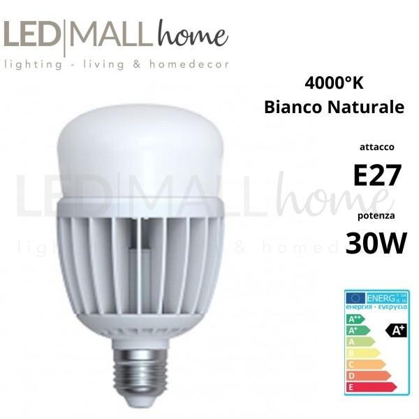 Lampada Bulbo Goccia Led A80 30W E27 luce Naturale alogeno ioduri metallici SAP per illuminazione industriale domestica pubblica