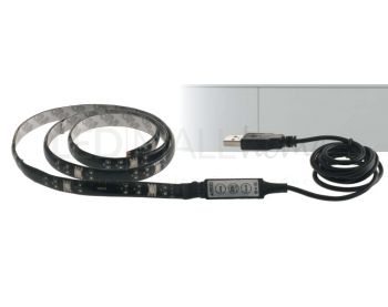 STRIP LED SURROUND USB 15LED 3,5W RGB COMANDO DIGITALE 80X1CM