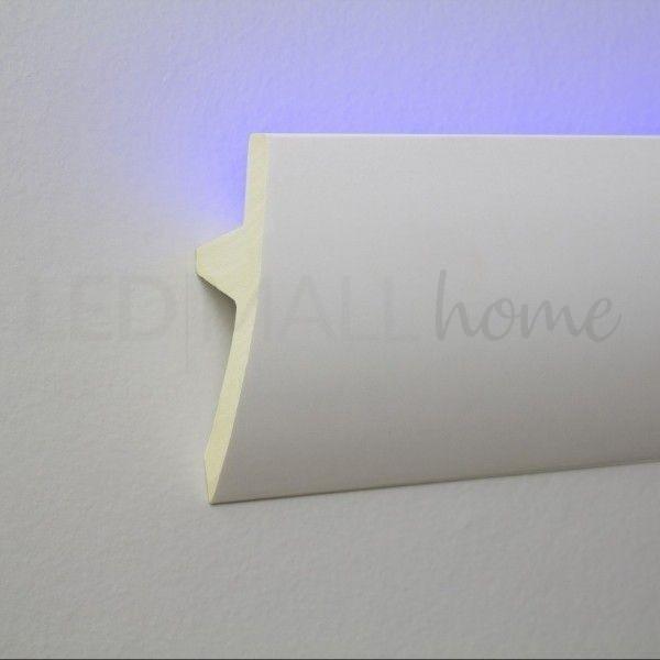 Profilo duro polimero simil gesso alloggio per strip Led  incasso o esterno da 2mt allungabile verniciabile